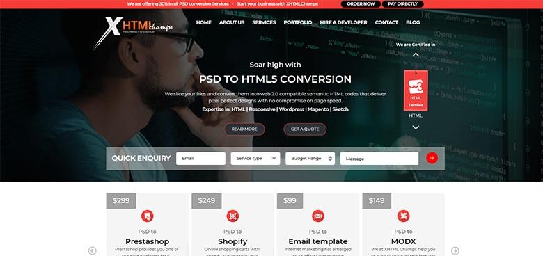 PSD to WordPress Conversion Price