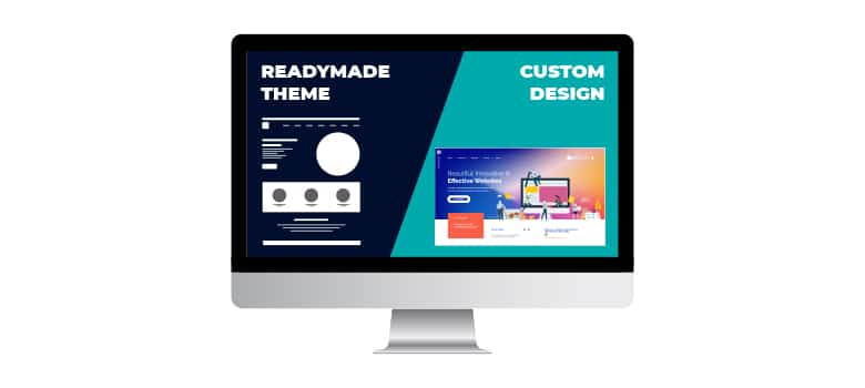 Which one is best for your business? Readymade theme or Custom design